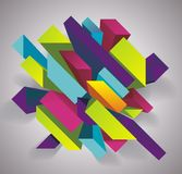 Abstract background with 3d figures. Vector illustration Stock Illustration