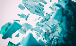 Abstract background. 3d futuristic polygonal shape abstract geometric background Stock Photos