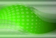 Abstract background 3D. Green with transparent waves and halftone, dots pattern Stock Photo