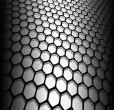 Abstract background. 3D hexagons black and white, vector illustration Stock Illustration