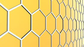 Abstract background of 3d hexagons blocks Stock Photo