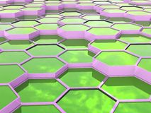 Abstract background of 3d hexagons blocks Royalty Free Stock Photo