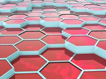 Abstract background of 3d hexagons blocks Royalty Free Stock Photography