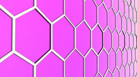 Abstract background of 3d hexagons blocks Stock Photos