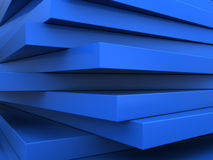 Abstract background. Abstract 3d illustration of blue plates background Stock Photo