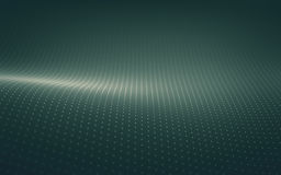 Abstract Background. 3D illustration. Points waves concept of technological abstract background Stock Images