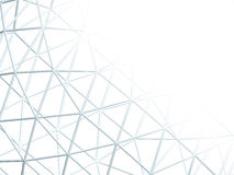 Abstract background with 3d lattice. Abstract white background with 3d lattice Royalty Free Stock Photography