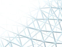 Abstract background with 3d lattice. Abstract white background with 3d lattice Stock Photography