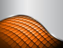 Abstract background 3D orange. And grey with mosaic pattern, vector design royalty free illustration