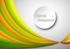 Abstract background 3d. Orange green Stock Images