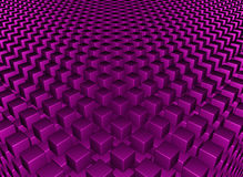 Abstract background. 3D purple cube rendered background Stock Images
