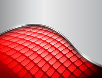Abstract background 3D red. And grey with mosaic pattern, vector design vector illustration
