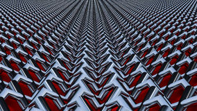 Abstract background 3D render. The metal mesh is woven together Stock Images