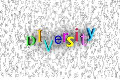 Abstract background 3D rendering - diversity concept.  Royalty Free Stock Images