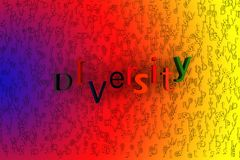 Abstract background 3D rendering - diversity concept.  Stock Image