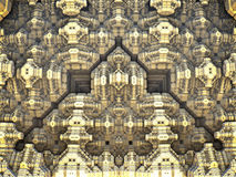 Abstract background 3D rendering. 3d generated fractal, fractal technology, mazes future Stock Photography