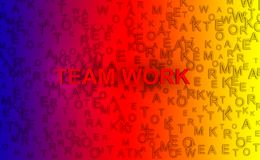 Abstract background 3D rendering - team work  concept.  Royalty Free Stock Photography