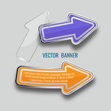Abstract background with 3D speech bubble, vector. Vector glass. Infographic banners set on gray background. template, for, presentation, education, web Royalty Free Stock Images