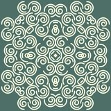 Abstract background with damask pattern. Easily editable vector image stock illustration