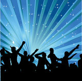 Abstract background with dancers. Vector illustration. Vector illustration Stock Photography