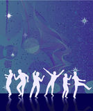 Abstract background with dancers. Vector illustration Royalty Free Stock Image