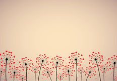 Abstract background with dandelions Stock Image