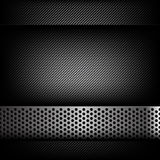 Abstract background dark and black carbon fiber with hold polish. Ed metal texture vector illustration eps10 Stock Photography