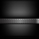 Abstract background dark and black carbon fiber with hold polish. Ed metal texture vector illustration eps10 Stock Images