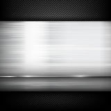 Abstract background dark and black carbon fiber with polish stee Stock Photos