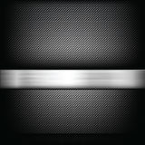Abstract background dark and black carbon fiber with polished me. Tal texture vector illustration eps10 Royalty Free Stock Photos