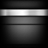Abstract background dark and black carbon fiber. With polished metal texture vector illustration eps10 Stock Photo