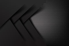 Abstract background dark and black carbon fiber vector illustrat Royalty Free Stock Photos