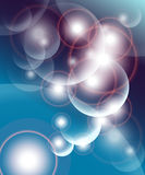 Abstract background dark blue with bubbles and light Royalty Free Stock Photo