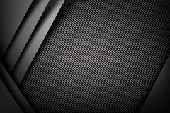 Abstract background dark with carbon fiber texture vector Royalty Free Stock Images