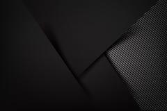Abstract background dark with carbon fiber texture vector Stock Photos