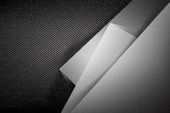 Abstract background dark with carbon fiber texture vector  Royalty Free Stock Image