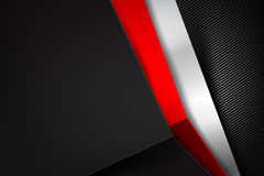 Abstract background dark with carbon fiber texture vector  Royalty Free Stock Photos