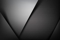 Abstract background dark with carbon fiber texture vector illust Stock Image