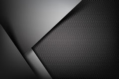 Abstract background dark with carbon fiber texture vector illust. Abstract background dark and black carbon fiber vector illustration eps10 Royalty Free Stock Image