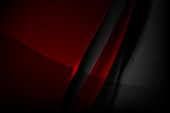 Abstract background dark with carbon fiber texture vector illust. Abstract background red dark and black carbon fiber vector illustration eps10 Royalty Free Stock Image