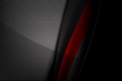 Abstract background dark with carbon fiber texture vector illust. Abstract background red dark and black carbon fiber vector illustration eps10 Stock Images