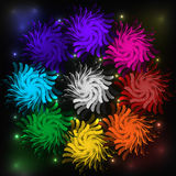 Abstract background. Dark circle festive Stock Photography