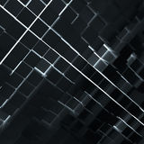 Abstract background from dark cubes. Light between cubes. 3D rendering stock illustration