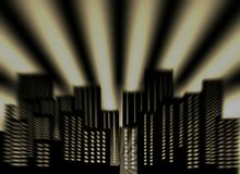 Abstract background dark night city and zoom effect Royalty Free Stock Photography