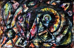 Abstract background. Jackson Pollock imitation. Abstract background. dark outlines on a colored backgroundn vector illustration