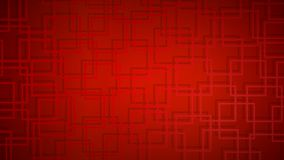 Abstract background of intersecting squares. Abstract background of dark red intersecting squares with shadows in red colors stock illustration