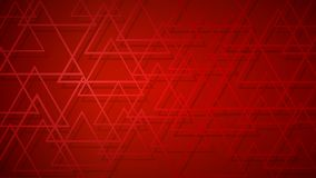 Abstract background of intersecting triangles. Abstract background of dark red intersecting triangles with shadows in red colors vector illustration