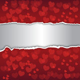 Abstract background. Decorated with red hearts Stock Photography