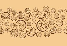 Abstract background with decorative circles. Seamless pattern. This is file of EPS10 format Royalty Free Stock Images