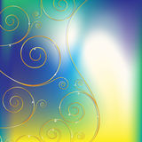 Abstract background with decorative elements Royalty Free Stock Images